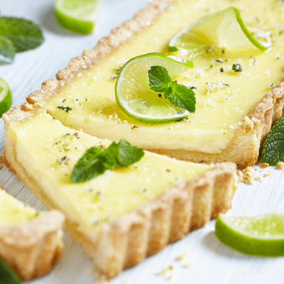 Mojito Tart {With Homemade Lime Curd}