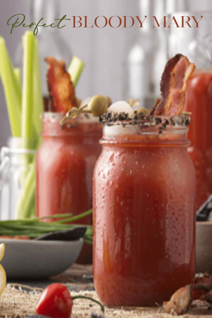THE  Perfect Bloody Mary! Not too spicy, not too bland and oh the garnish! What\'s not to love about bacon, peppery and smoky it adds a wonderful twist to this familiar brunch cocktail.