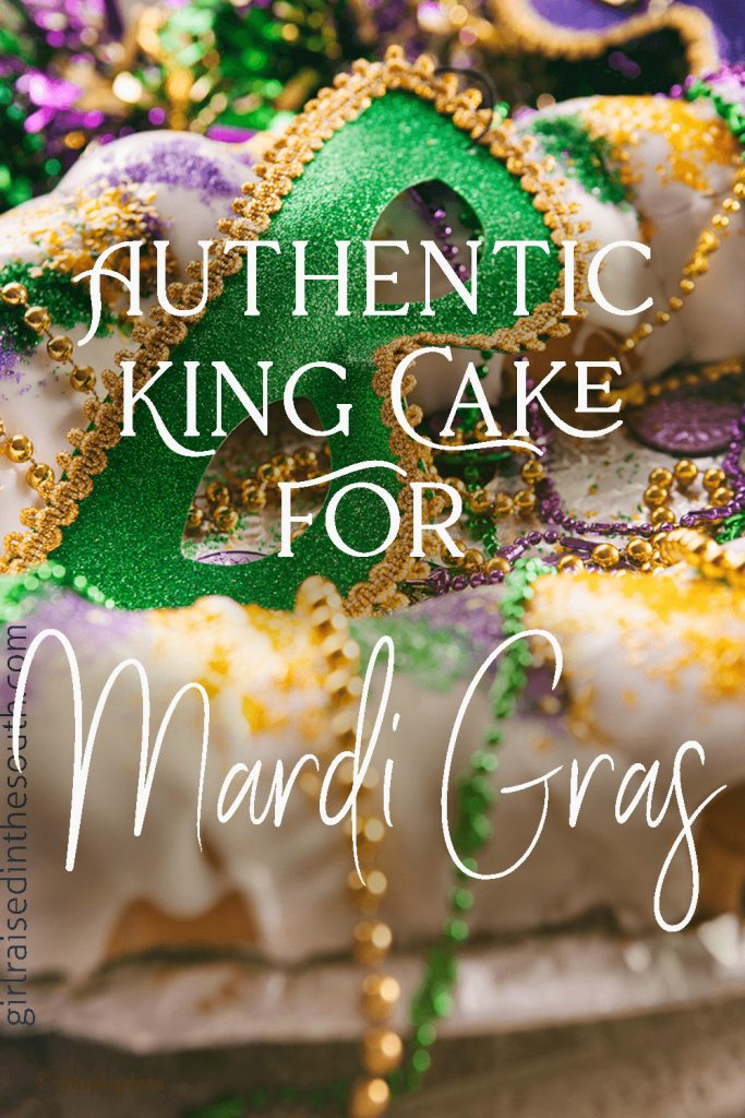 Authentic King Cake for Mardi Gras