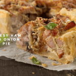 cheesy ham and onion pie