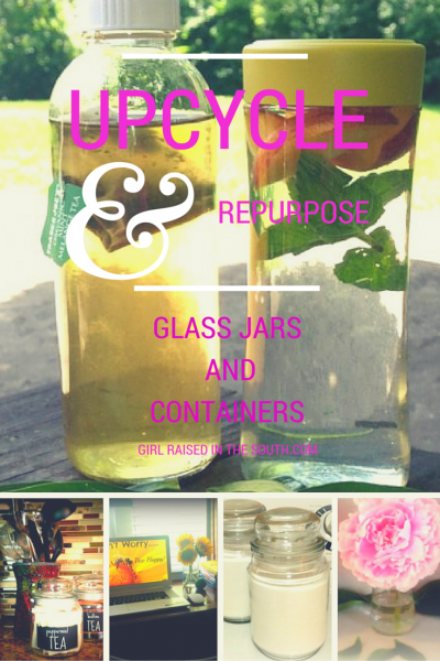 upcycle & repurpose jars and containers