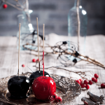 Maleficent's Black Candied Apples