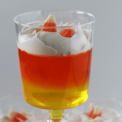 Easy Halloween Candy Corn Jell-O Dessert Treats
