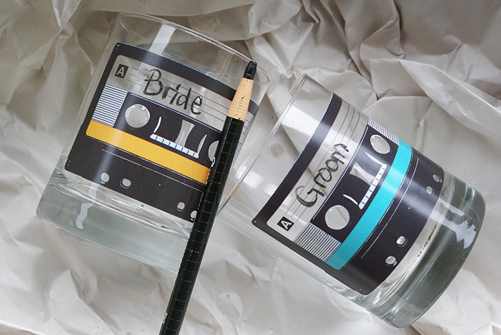 Cassette Tape Highball Glass