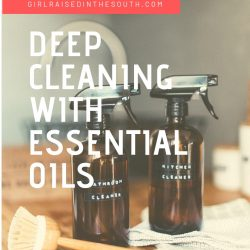deep cleaning with essential oils
