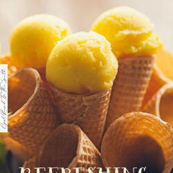 refreshing lemon sherbet